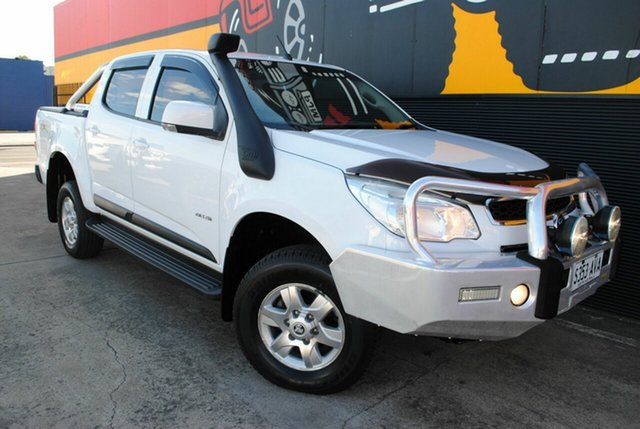 Used Holden Colorado RG MY13 LT Crew Cab, 2012 Holden Colorado RG MY13 LT Crew Cab Summit White 6 Speed Sports Automatic Utility