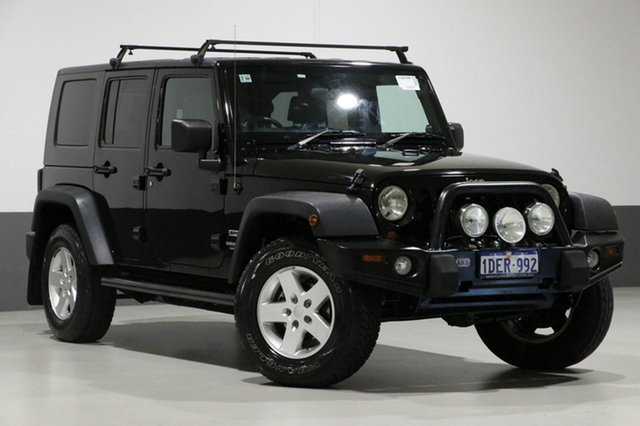 Used Jeep Wrangler Unlimited JK MY08 Sport (4x4), 2009 Jeep Wrangler Unlimited JK MY08 Sport (4x4) Black 4 Speed Automatic Softtop