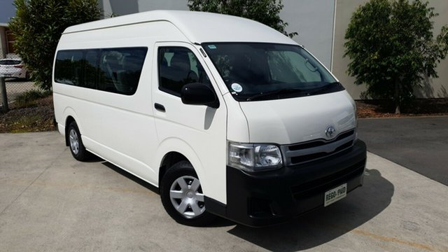 Used Toyota HiAce TRH223R MY11 Commuter High Roof Super LWB, 2011 Toyota HiAce TRH223R MY11 Commuter High Roof Super LWB White 4 Speed Automatic Bus