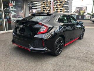 2019 Honda Civic 10th Gen MY18 VTi-S Crystal Black 1 Speed Constant Variable Hatchback.