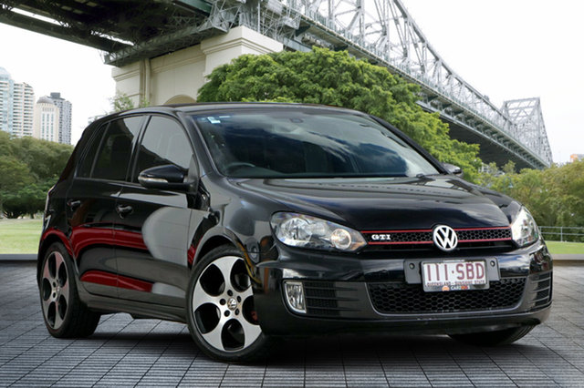 Used Volkswagen Golf VI MY11 GTi, 2011 Volkswagen Golf VI MY11 GTi Black 6 Speed Manual Hatchback