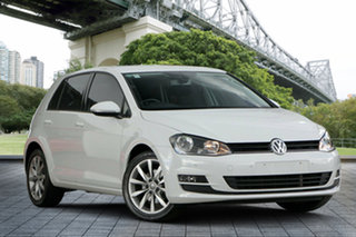 2013 Volkswagen Golf VII 103TSI DSG Highline White 7 Speed Sports Automatic Dual Clutch Hatchback.