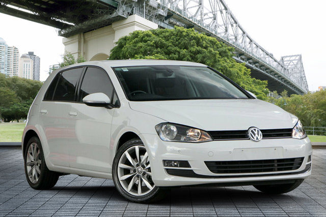 Used Volkswagen Golf VII 103TSI DSG Highline, 2013 Volkswagen Golf VII 103TSI DSG Highline White 7 Speed Sports Automatic Dual Clutch Hatchback