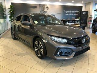2018 Honda Civic 10th Gen MY18 VTi-LX Modern Steel 1 Speed Constant Variable Hatchback.