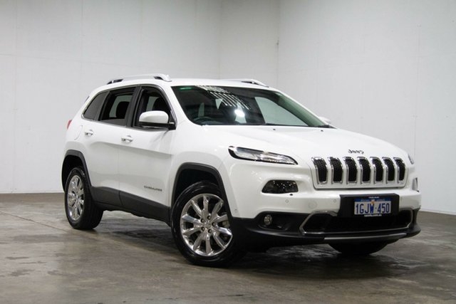 Used Jeep Cherokee KL Limited, 2014 Jeep Cherokee KL Limited White 9 Speed Sports Automatic Wagon