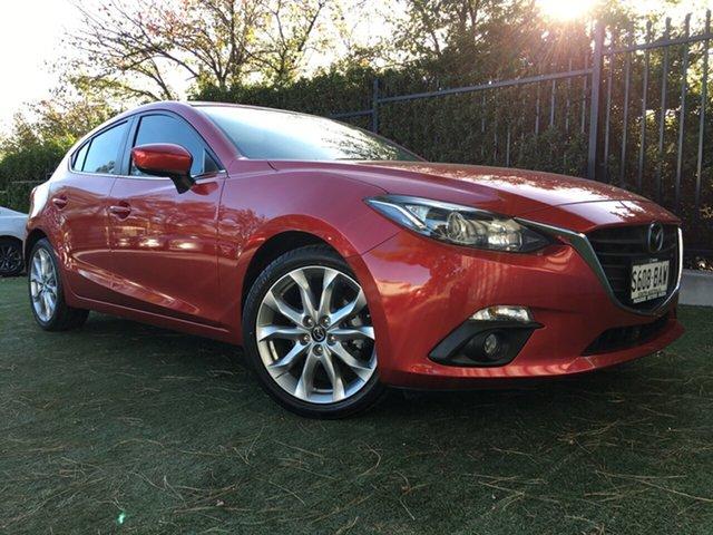 Used Mazda 3 BM5438 SP25 SKYACTIV-Drive, 2014 Mazda 3 BM5438 SP25 SKYACTIV-Drive Red/Black 6 Speed Sports Automatic Hatchback