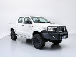 2012 Toyota Hilux KUN26R MY12 SR (4x4) White 5 Speed Manual Dual Cab Pick-up.
