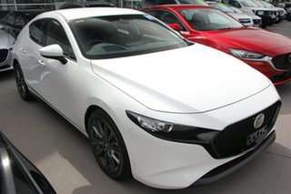 2020 Mazda 3 BP2HLA G25 SKYACTIV-Drive GT White 6 Speed Sports Automatic Hatchback.