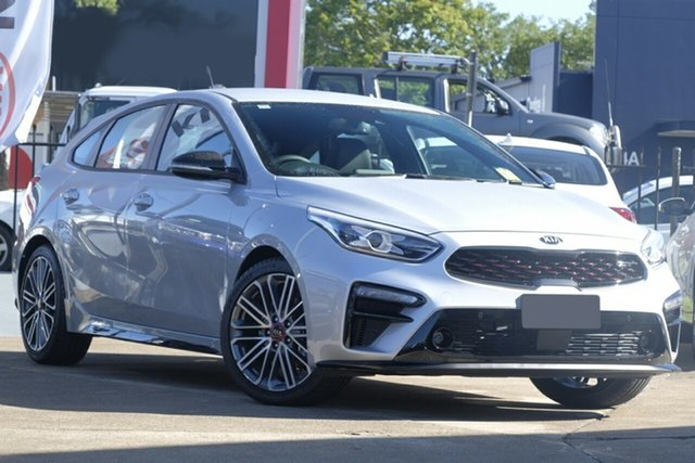 New Kia Cerato BD MY19 GT DCT, 2019 Kia Cerato BD MY19 GT DCT Silky Silver 7 Speed Sports Automatic Dual Clutch Hatchback