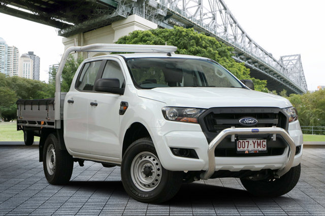 Used Ford Ranger PX MkII 2018.00MY XL 4x2 Hi-Rider, 2017 Ford Ranger PX MkII 2018.00MY XL 4x2 Hi-Rider White 6 Speed Sports Automatic Cab Chassis