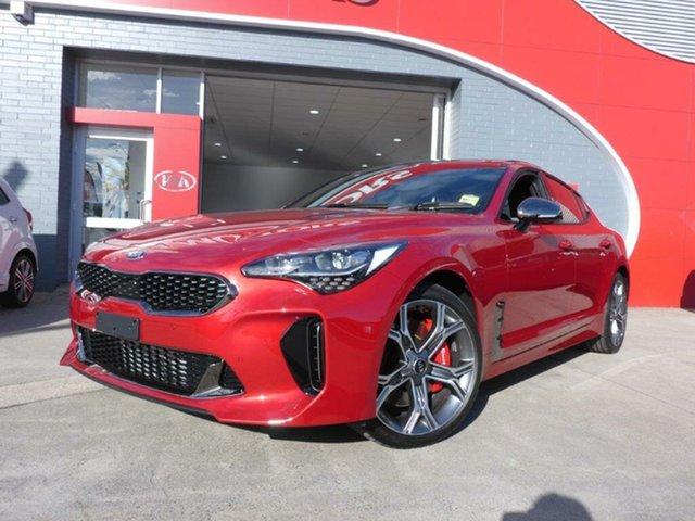 New Kia Stinger CK MY19 GT (blk LTH W Michelin Tyr), 2019 Kia Stinger CK MY19 GT (blk LTH W Michelin Tyr) Hichroma Red 8 Speed Automatic Sedan