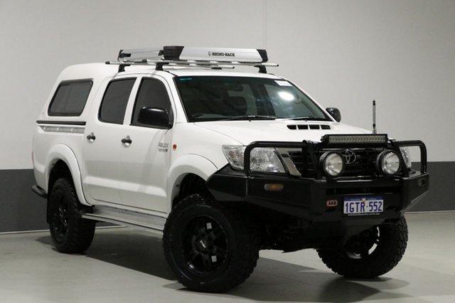 Used Toyota Hilux KUN26R MY12 SR (4x4), 2014 Toyota Hilux KUN26R MY12 SR (4x4) White 5 Speed Manual Dual Cab Pick-up
