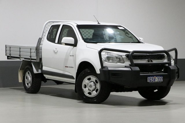 Used Holden Colorado RG MY14 LX (4x4), 2014 Holden Colorado RG MY14 LX (4x4) White 6 Speed Automatic Space Cab Chassis
