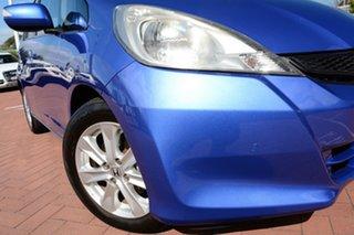 2012 Honda Jazz GE MY12 Vibe Blue 5 Speed Manual Hatchback.
