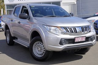 2015 Mitsubishi Triton MN MY15 GLX Double Cab 4x2 Sterling Silver 5 Speed Manual Utility.
