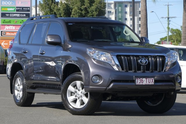 Used Toyota Landcruiser Prado KDJ150R MY14 GXL, 2014 Toyota Landcruiser Prado KDJ150R MY14 GXL Graphite Grey 5 Speed Sports Automatic Wagon