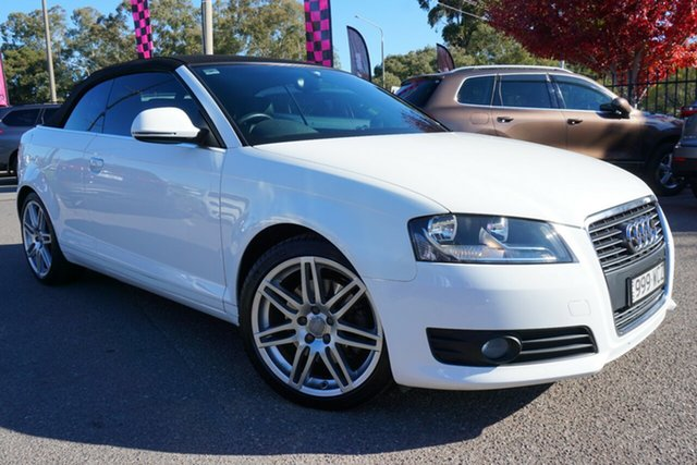Used Audi A3 8P MY10 TFSI S Tronic Ambition, 2010 Audi A3 8P MY10 TFSI S Tronic Ambition White 6 Speed Sports Automatic Dual Clutch Convertible