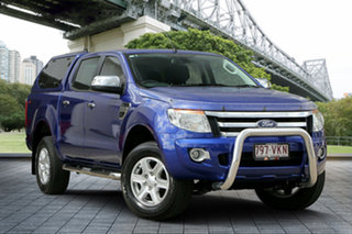 2015 Ford Ranger PX XLT Double Cab 4x2 Hi-Rider Aurora Blue 6 Speed Sports Automatic Utility.