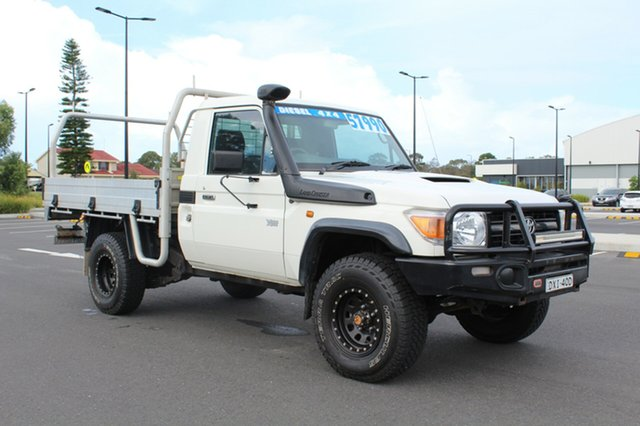 Used Toyota Landcruiser VDJ79R Workmate, 2015 Toyota Landcruiser VDJ79R Workmate White 5 Speed Manual Cab Chassis