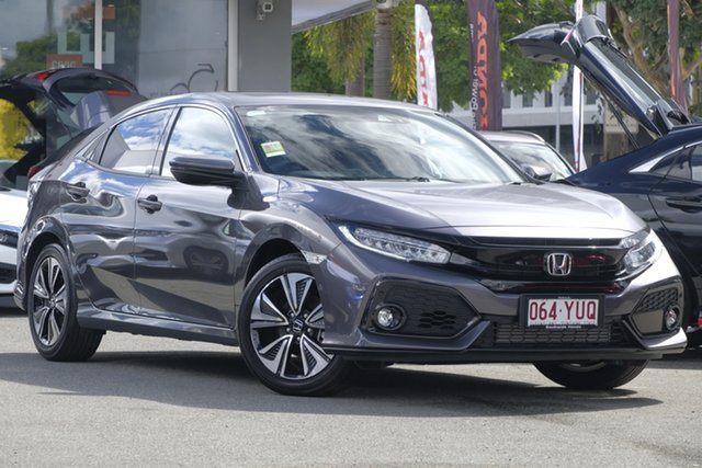 Demo Honda Civic 10th Gen MY18 VTi-LX, 2018 Honda Civic 10th Gen MY18 VTi-LX Modern Steel 1 Speed Constant Variable Hatchback