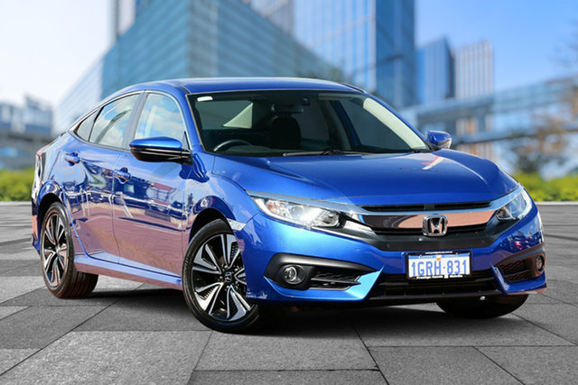 Demo Honda Civic 10th Gen MY18 VTi-L, 2018 Honda Civic 10th Gen MY18 VTi-L Brilliant Sporty Blue 1 Speed Constant Variable Sedan