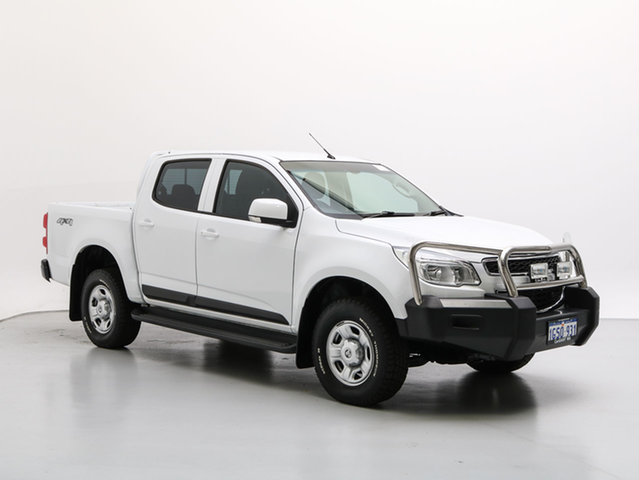 Used Holden Colorado RG MY16 LS (4x4), 2016 Holden Colorado RG MY16 LS (4x4) White 6 Speed Manual Crew Cab Chassis