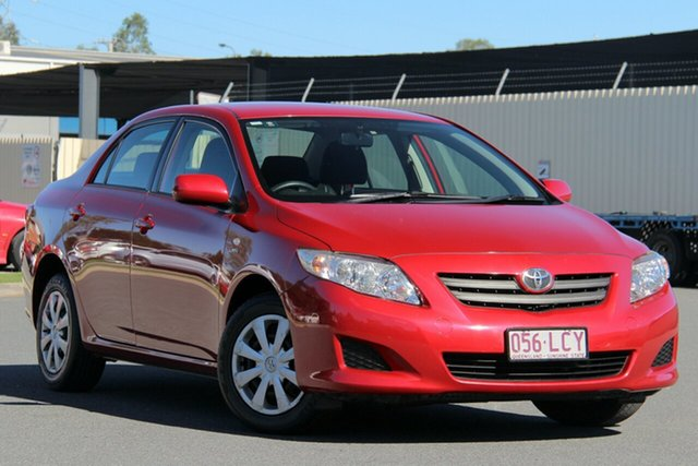 Used Toyota Corolla ZRE152R Ascent, 2008 Toyota Corolla ZRE152R Ascent Red 4 Speed Automatic Sedan