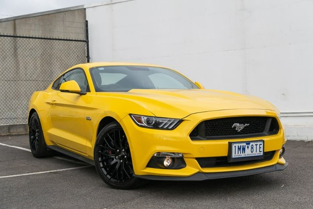Used Ford Mustang FM 2017MY GT Fastback, 2017 Ford Mustang FM 2017MY GT Fastback Yellow 6 Speed Manual Fastback