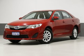 2014 Toyota Camry AVV50R Hybrid H Red Continuous Variable Sedan.