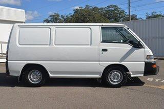 2009 Mitsubishi Express SJ MY10 Window Van SWB White 5 Speed Manual Van.