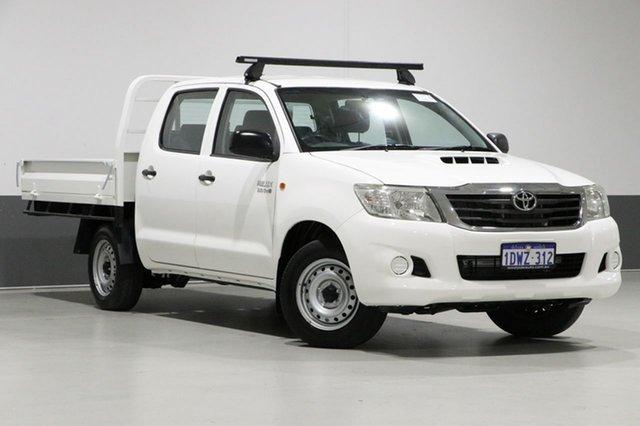 Used Toyota Hilux KUN16R MY12 SR, 2012 Toyota Hilux KUN16R MY12 SR White 5 Speed Manual Dual Cab Pick-up