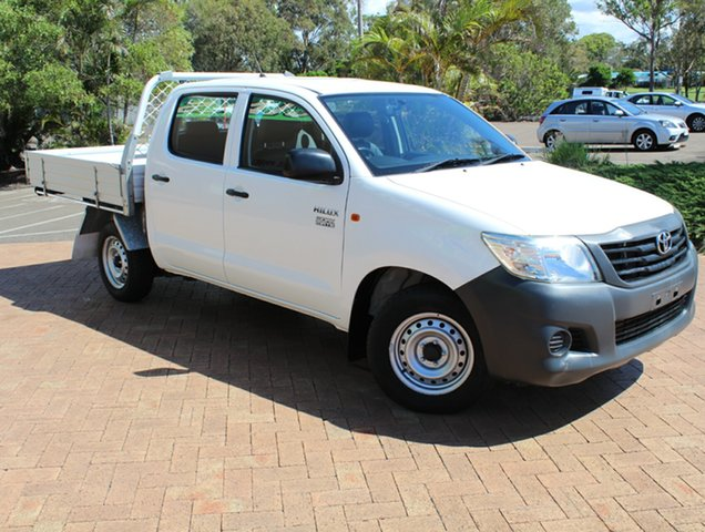 Used Toyota Hilux TGN16R MY14 Workmate Double Cab 4x2, 2015 Toyota Hilux TGN16R MY14 Workmate Double Cab 4x2 White 4 Speed Automatic Utility