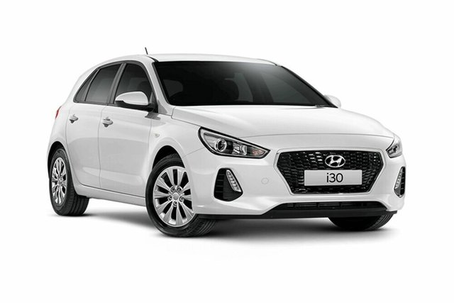 Demo Hyundai i30 PD MY19 Go, 2019 Hyundai i30 PD MY19 Go Polar White 6 Speed Sports Automatic Hatchback