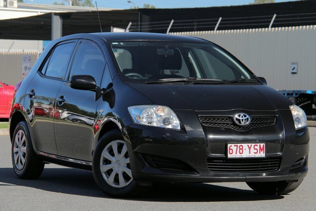 Used Toyota Corolla ZRE152R Ascent, 2008 Toyota Corolla ZRE152R Ascent Black 6 Speed Manual Hatchback