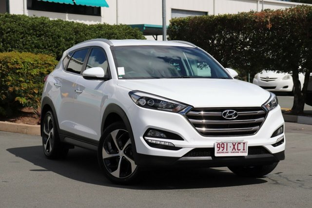 Used Hyundai Tucson TLE Elite 2WD, 2016 Hyundai Tucson TLE Elite 2WD White 6 Speed Sports Automatic Wagon