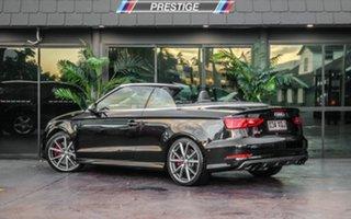 2014 Audi S3 8V MY15 2.0 TFSI Quattro Black 6 Speed Direct Shift Cabriolet.