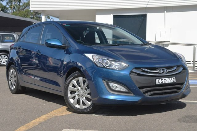 Used Hyundai i30 GD Active, 2013 Hyundai i30 GD Active Dazzling Blue 6 Speed Manual Hatchback