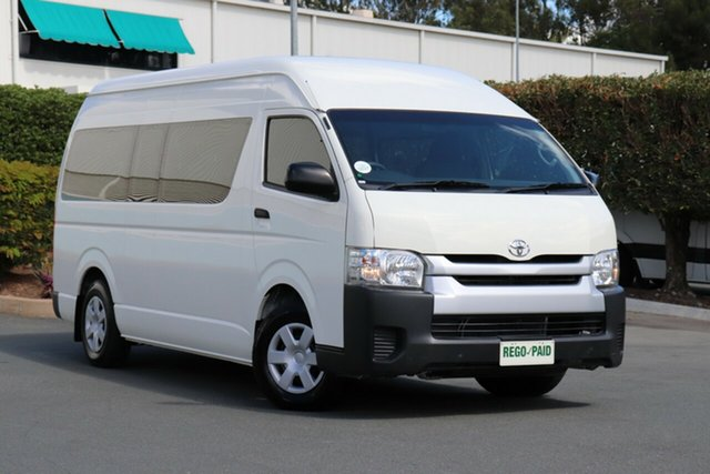 Used Toyota HiAce KDH223R MY14 Commuter High Roof Super LWB, 2014 Toyota HiAce KDH223R MY14 Commuter High Roof Super LWB Vanilla 4 Speed Automatic Bus
