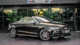 2014 Audi S3 8V MY15 2.0 TFSI Quattro Black 6 Speed Direct Shift Cabriolet.