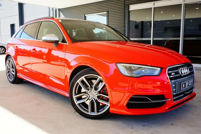 Used Audi S3 8V MY14 Sportback S Tronic Quattro, 2014 Audi S3 8V MY14 Sportback S Tronic Quattro Red 6 Speed Sports Automatic Dual Clutch Hatchback