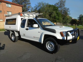 2010 Holden Colorado RC MY10 LX (4x4) White 5 Speed Manual Space Cab Chassis.