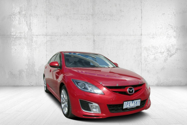 Used Mazda 6 GH1051 MY09 Luxury, 2009 Mazda 6 GH1051 MY09 Luxury Velocity Red 5 Speed Sports Automatic Hatchback