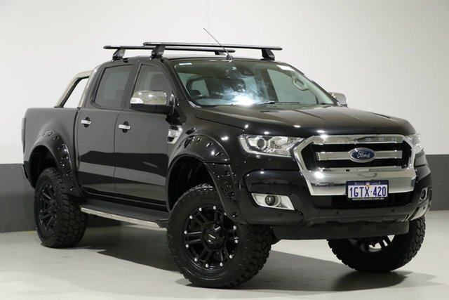 Used Ford Ranger PX MkII XLT 3.2 (4x4), 2016 Ford Ranger PX MkII XLT 3.2 (4x4) Black 6 Speed Automatic Dual Cab Utility