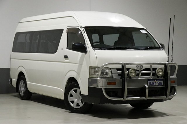 Used Toyota HiAce KDH223R MY07 Upgrade Commuter, 2009 Toyota HiAce KDH223R MY07 Upgrade Commuter White 5 Speed Manual Bus
