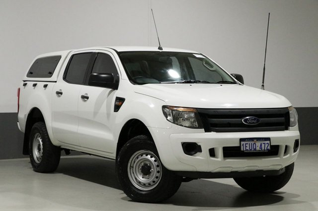 Used Ford Ranger PX XL 3.2 (4x4), 2015 Ford Ranger PX XL 3.2 (4x4) White 6 Speed Manual Dual Cab Utility