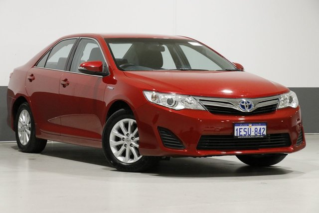Used Toyota Camry AVV50R Hybrid H, 2014 Toyota Camry AVV50R Hybrid H Red Continuous Variable Sedan