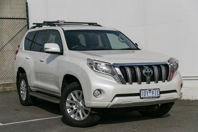 Used Toyota Landcruiser Prado KDJ150R MY14 Kakadu, 2015 Toyota Landcruiser Prado KDJ150R MY14 Kakadu White 5 Speed Sports Automatic Wagon