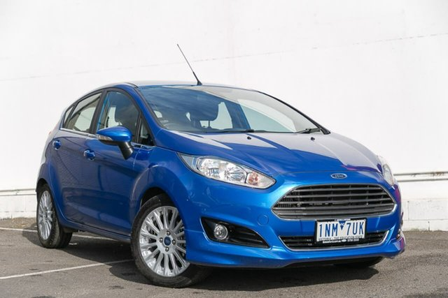 Used Ford Fiesta WZ Sport PwrShift, 2018 Ford Fiesta WZ Sport PwrShift Blue 6 Speed Sports Automatic Dual Clutch Hatchback