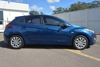 2013 Hyundai i30 GD Active Dazzling Blue 6 Speed Manual Hatchback.