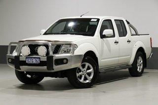 2013 Nissan Navara D40 MY12 ST (4x4) White 6 Speed Manual Dual Cab Pick-up.